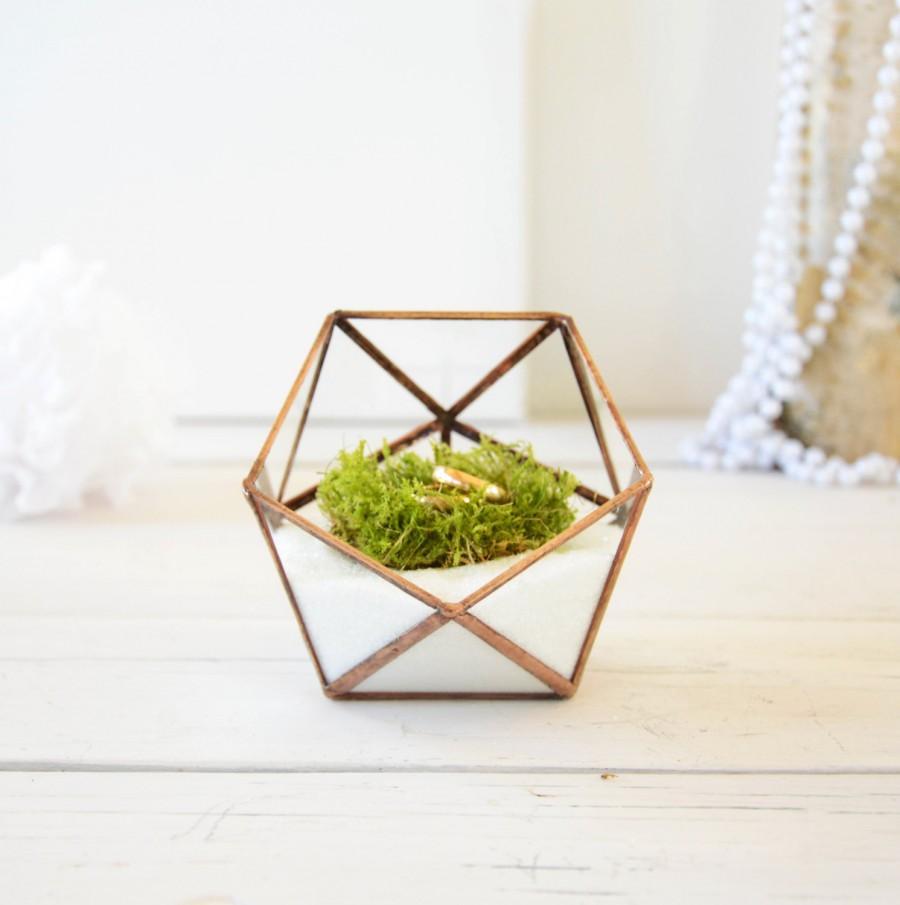Wedding Ring Holder Box Mini Gl Geometric