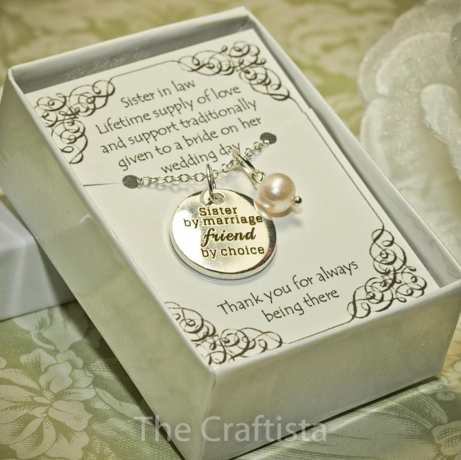 Sister Of The Groom Necklace Sil In Law Maid Honor Gift Bridesmaid Jewelry