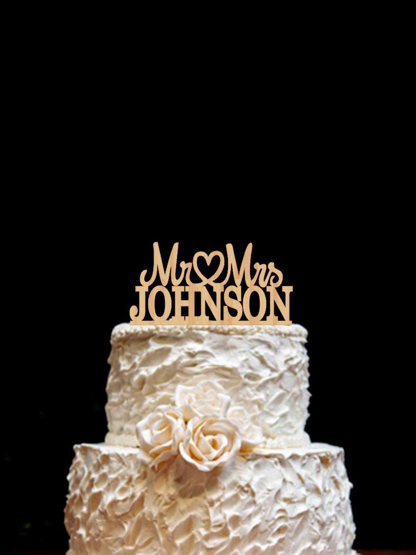 custom last name wedding cake toppers wood cake topper mr mrs wedding cake topper last name 13213