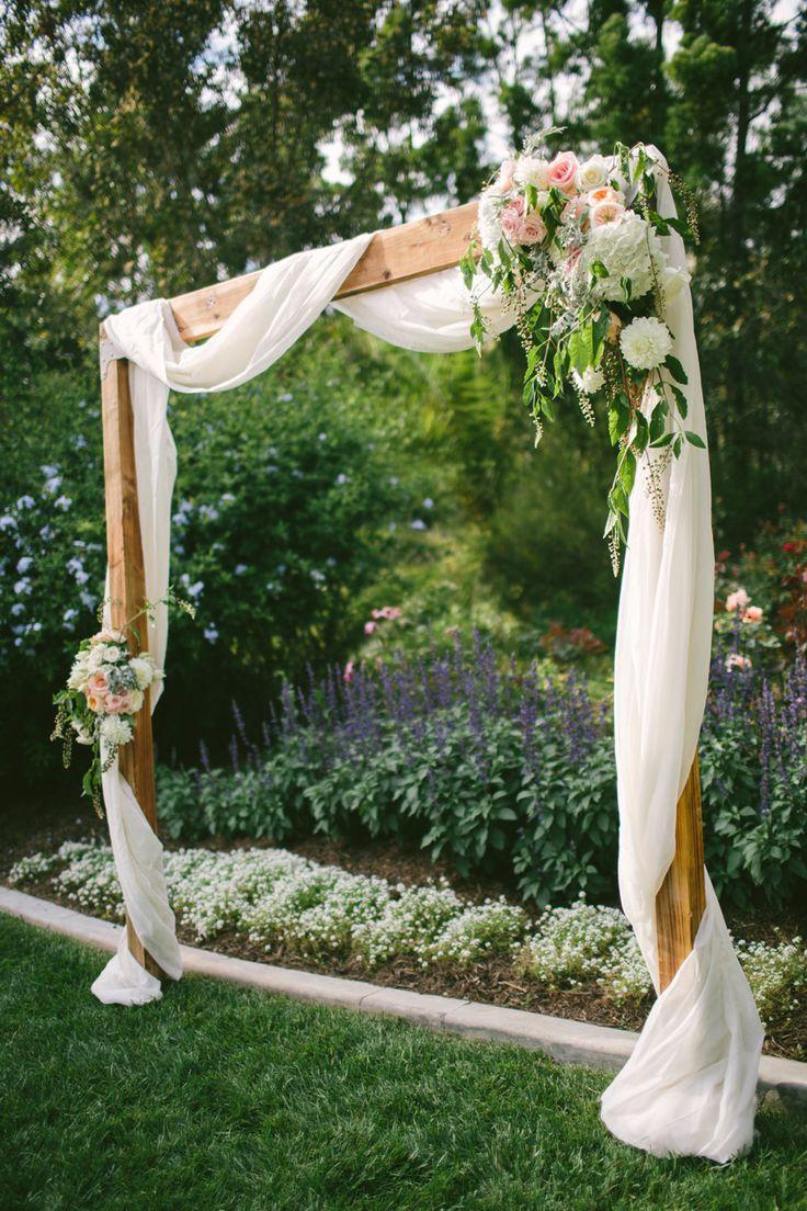 Meets Rustic Backyard Wedding
