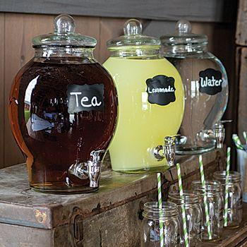 Country Chic Gl Beverage Dispenser