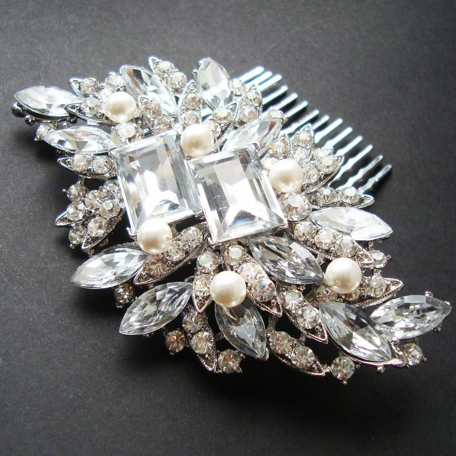 vintage style bridal hair comb, art deco wedding hair comb, bridal