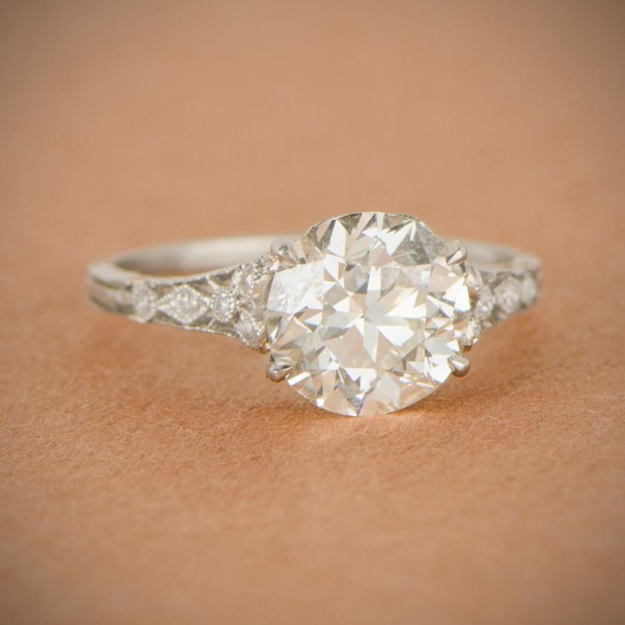 Rare Edwardian Engagement Ring Antique Circa 1910