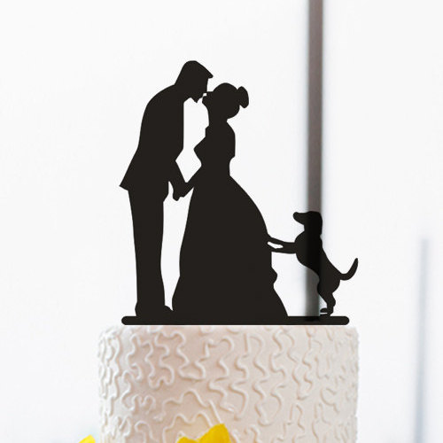 wedding cake topper silhouette with dogs and groom silhouette www pixshark 26501