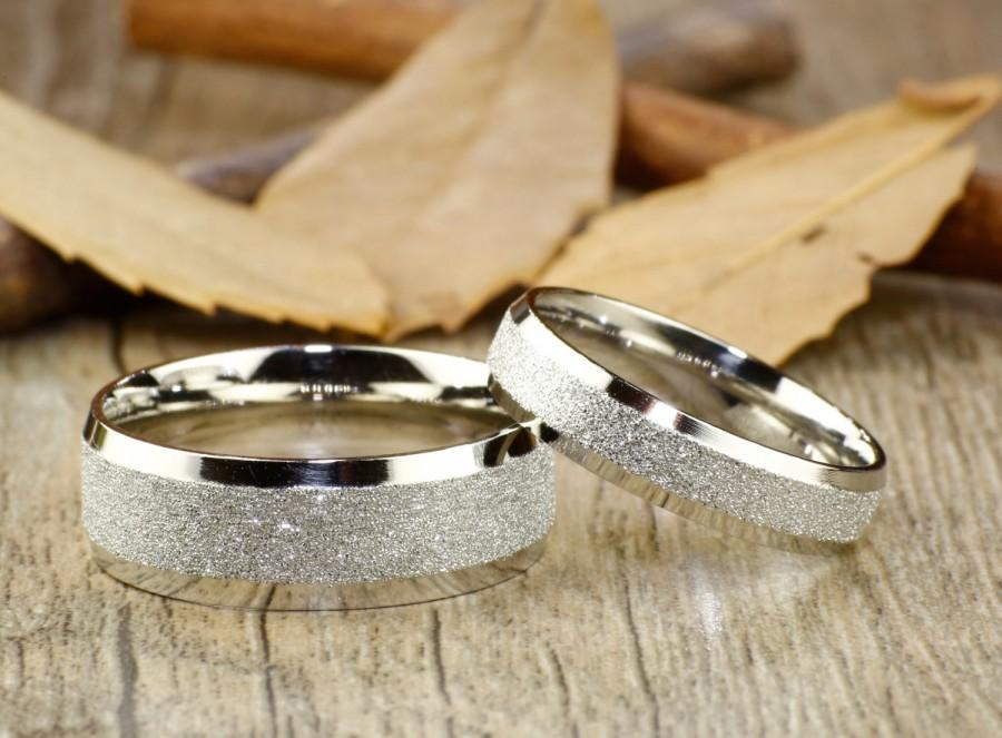 Handmade Wedding Bands Rings Set Anium Anniversary