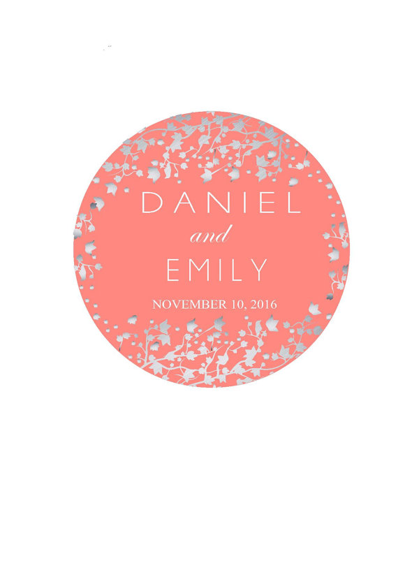 Wedding Favor Labels Personalized Stickers Thank You Sticker Round For Favors Custom