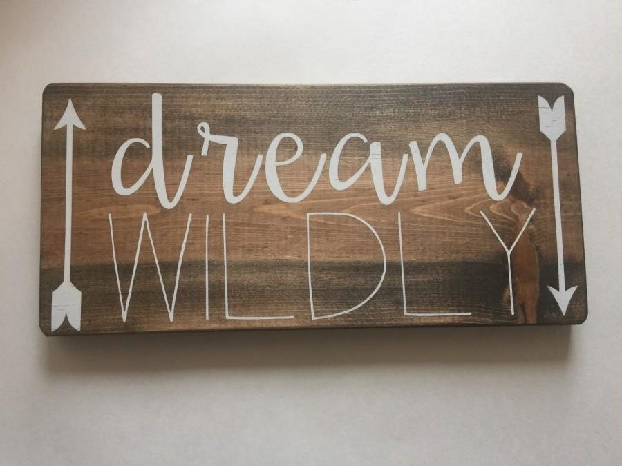 Fresh Dream Sign - Dream Wildly - Dream, Rustic Wooden Signs -Wood Signs  RN89