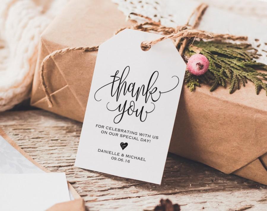 Thank You Tag Wedding Tags Gift Favor Printable Pdf Instant