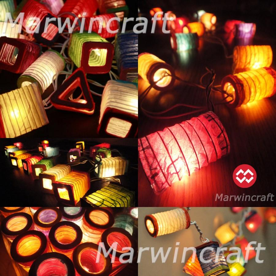 Battery Ed Led 20 Asian Multi Color Chinese Paper Lantern Fairy String Lights Patio Party Wedding Gift Wall Hanging Home Decor Enese