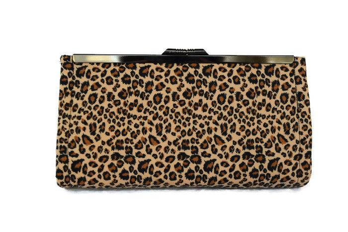 Leopard Print Evening Bag Bridal Accessory Animal Wedding Party Clutch Mothers Day Gift Purse Bridesmaids Idea