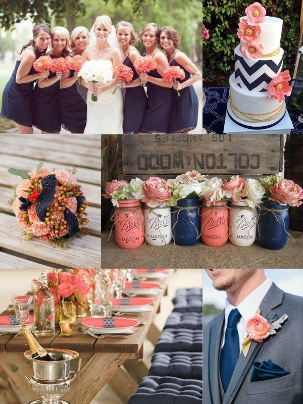 navy blue and coral wedding decorations wedding theme wbc coral navy blue wedding ideas 6114