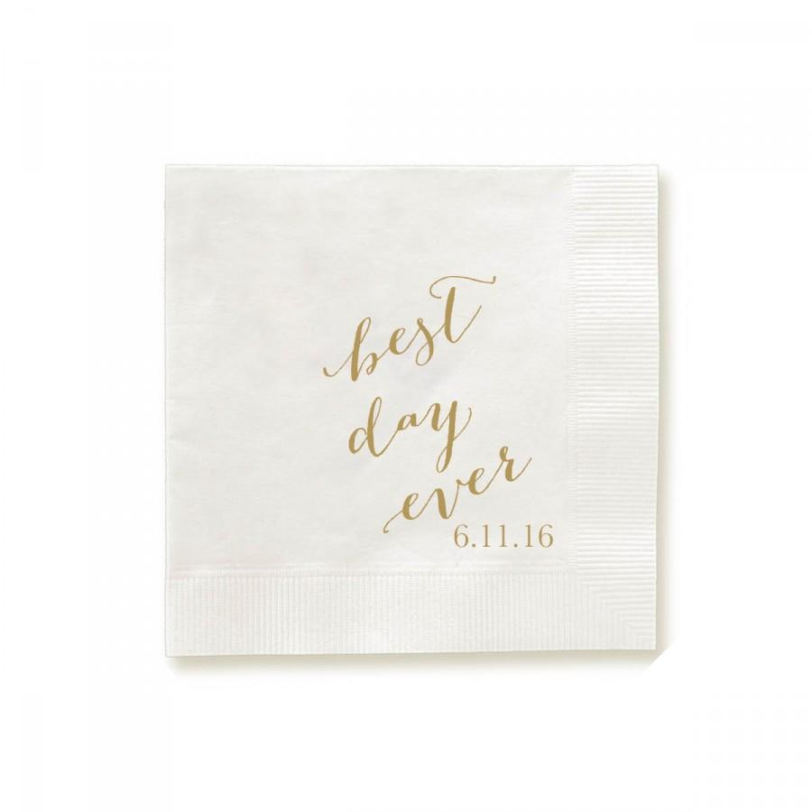 Best Day Ever Napkins Guest Towels Wedding Party Custom Monogram Orted Colors For Napkin And