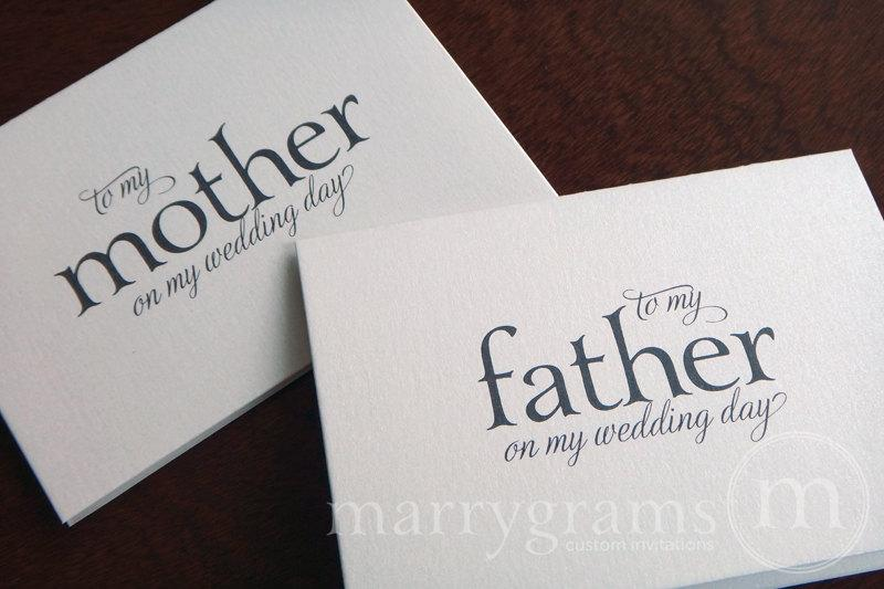 Wedding Cards To Your Mother And Father Pas Of The Bride Or