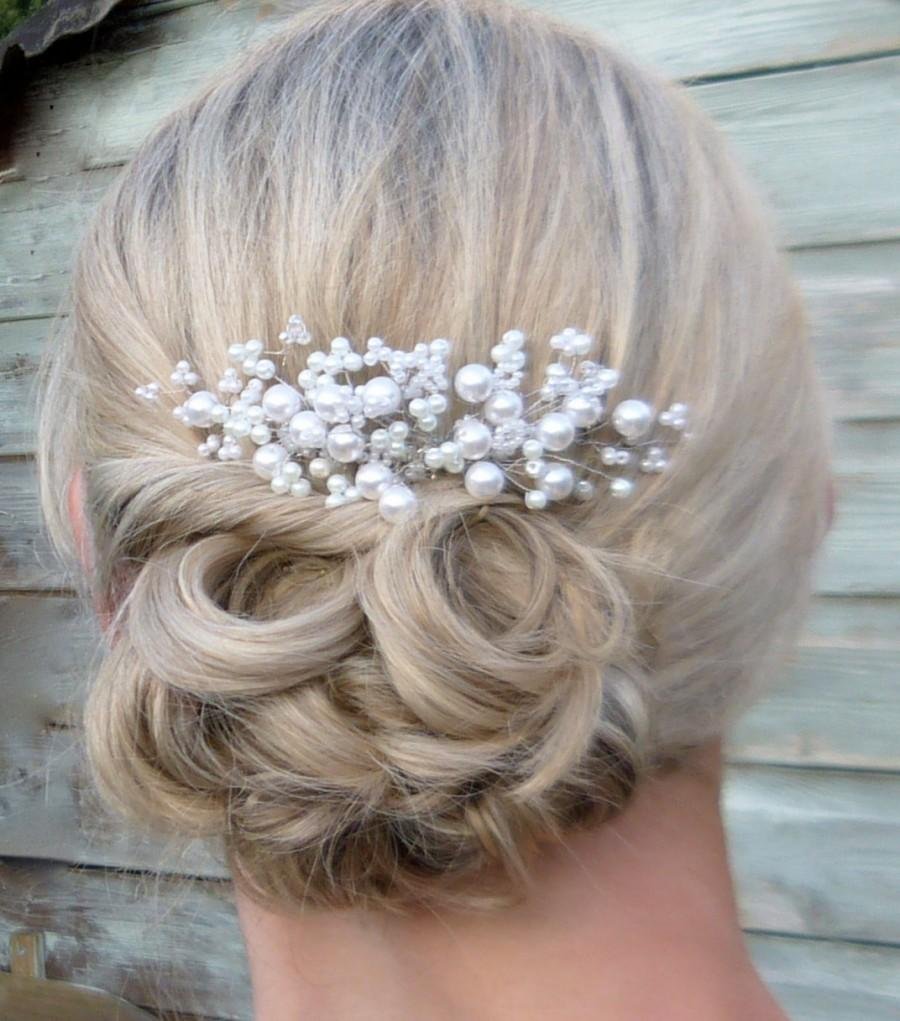 hair - gypsophila beaded hair comb #2553282 - weddbook