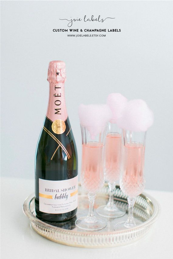 Custom Champagne Bottle Label For Bachelorette Party Bridal Shower Suite Or Baby Mini Labels Also Available