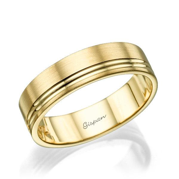 mens wedding band ring 14k gold - Unique Wedding Rings For Men