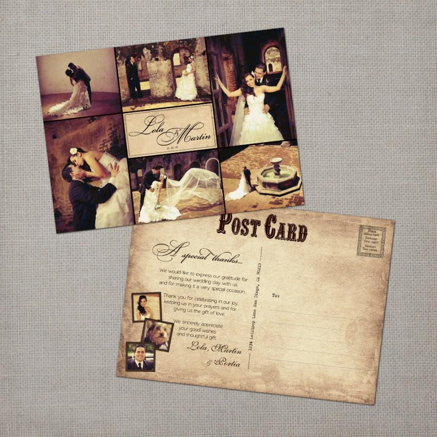 Vintage Wedding Thank You Cards Yous Postcard The Lola