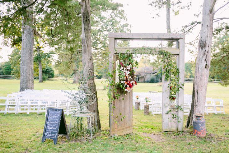 Elegant Old Door Outdoor Ceremony Entrance