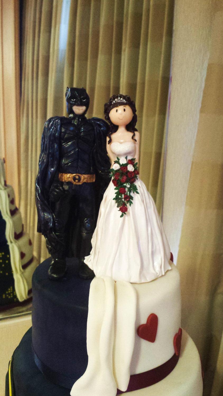 decor - bride and superhero wedding cake topper #2557647