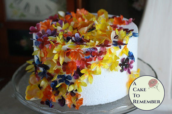 edible flowers for wedding cake decoration 50 wafer paper flowers edible flowers and decoration for 13899
