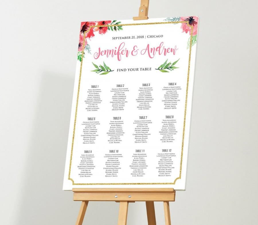 wedding seating plan editable template. Black Bedroom Furniture Sets. Home Design Ideas