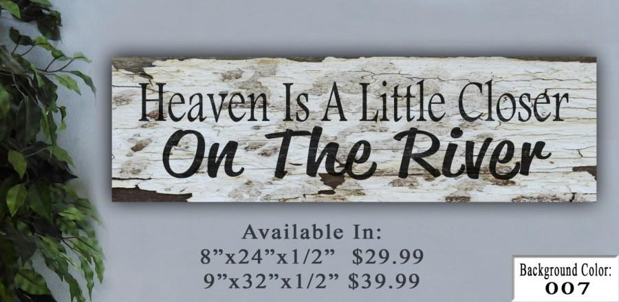 River Sign Wooden Personalized Home Decor Family Friends And Friend Gift