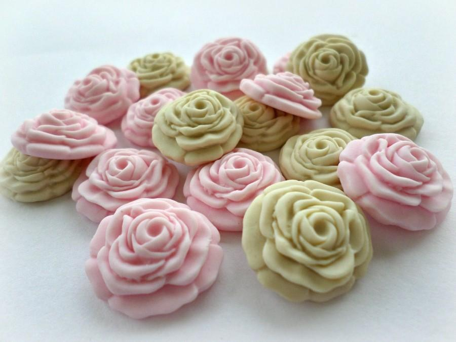 wedding cake fondant flower toppers wedding favor candies cupcake toppers edible cake 22689