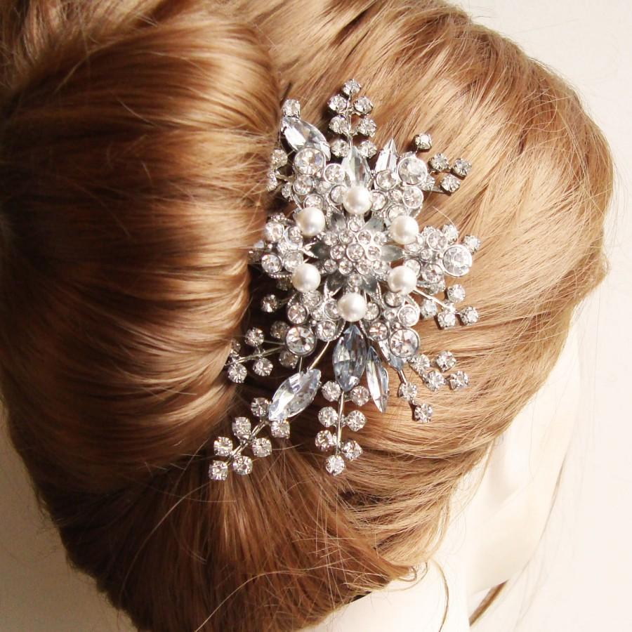 Rhinestone Hair Comb Bridal French Twist Wedding Accessories Tiara Stargazer Ii