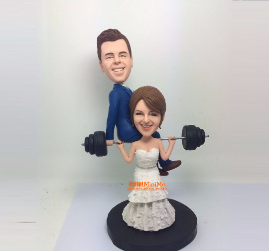 bobblehead wedding cake topper custom cake topper wedding topper bobblehead custom 1994
