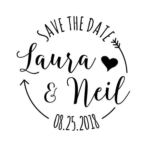 Custom Save The Date Stamp Rubber Wedding Invitations Tags Diy Bride 1 6 X1 Cts137