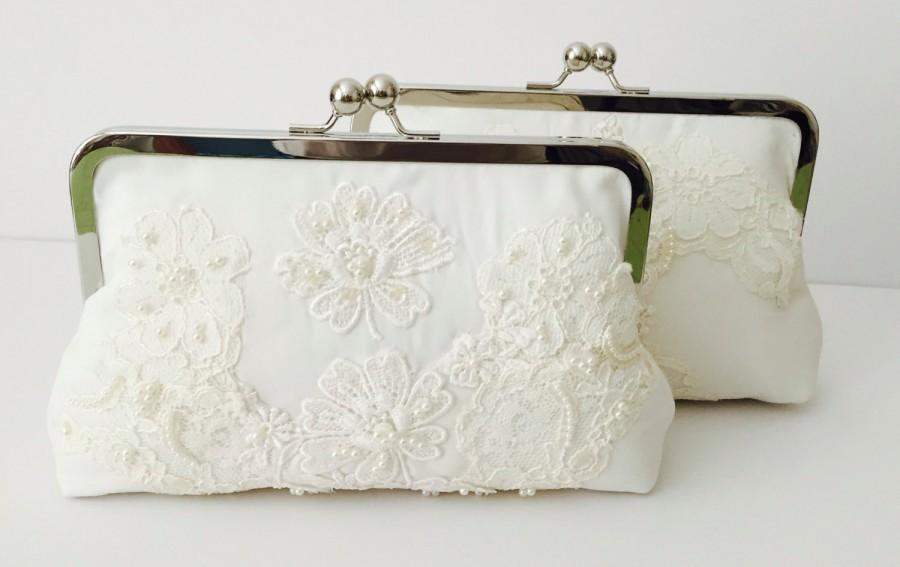 CUSTOM, HEIRLOOM, REPURPOSE Old Wedding Dress Into A Bridal Clutch ...
