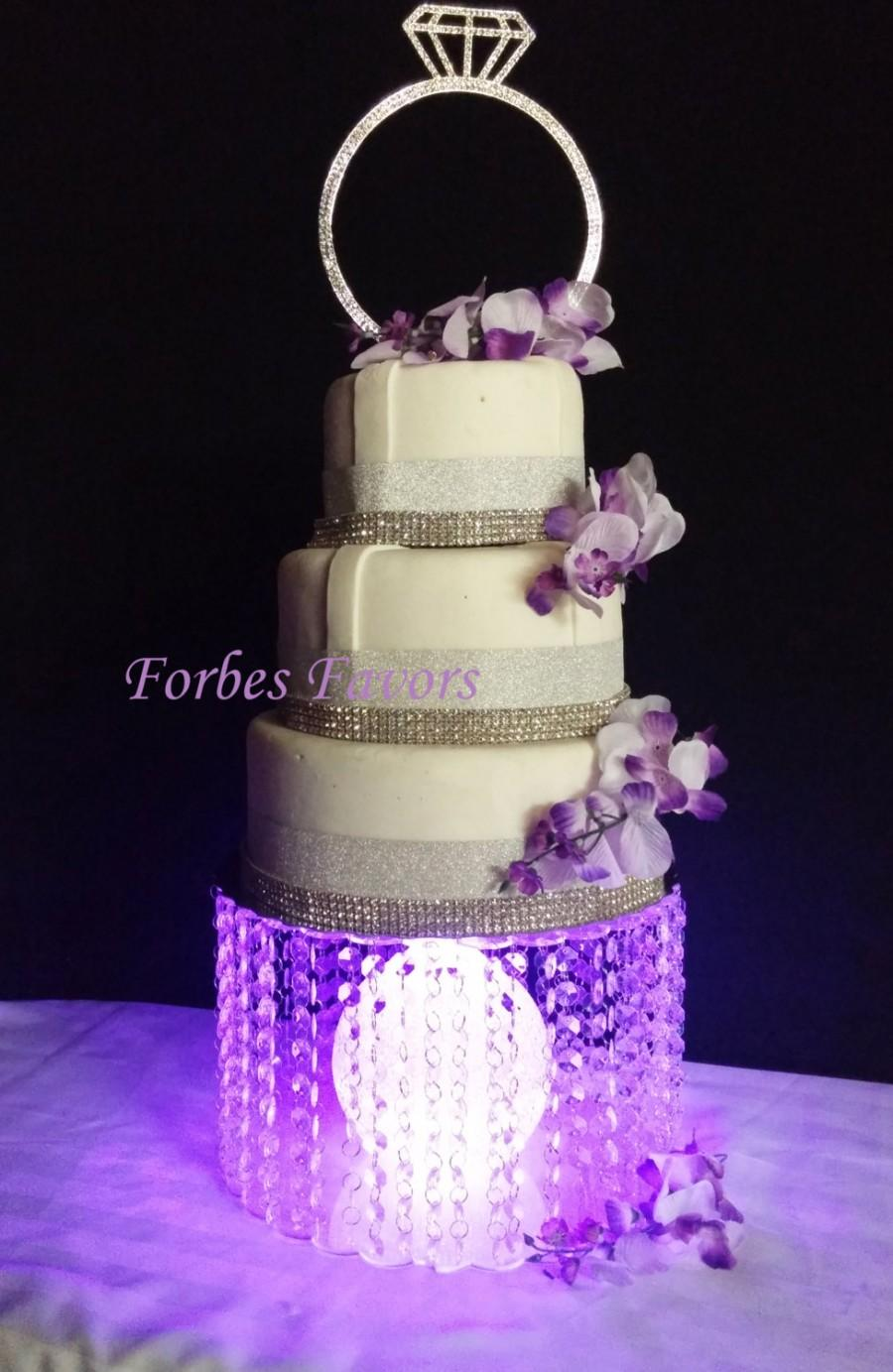 Acrylic Cake Stand With Center Orb Led Lights