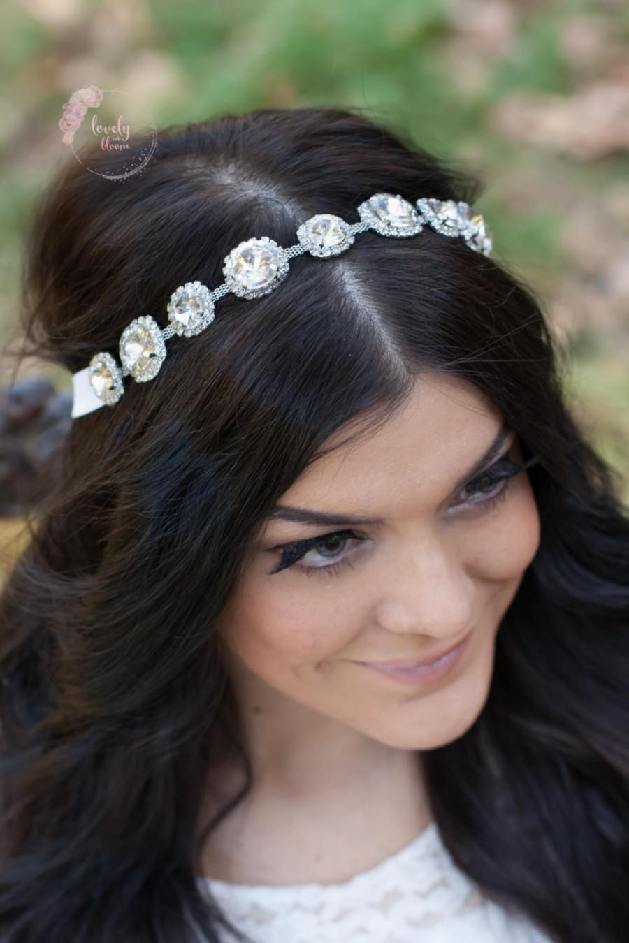 bride headpiece, wedding headband, jeweled headpiece, jeweled