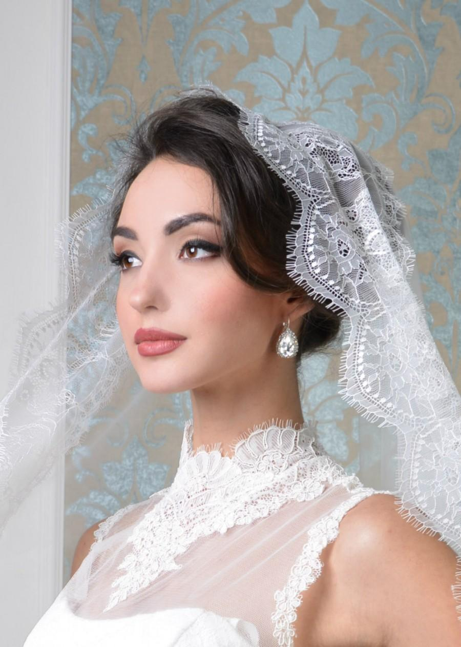 Wedding Hairstyles With Mantilla Veil | Fade Haircut