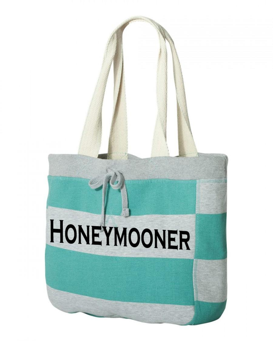 Honeymooner Beach Bag For The Bride Tote Bridal Shower Gift Idea Engagement Party Or Honeymoon Just Married