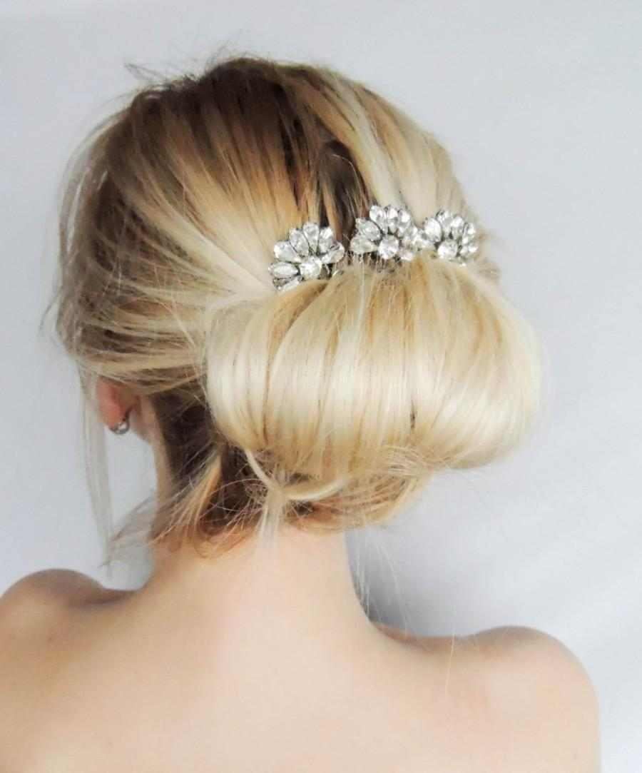 swarovski crystal hair comb/ hair pins/ bridal hair accessories