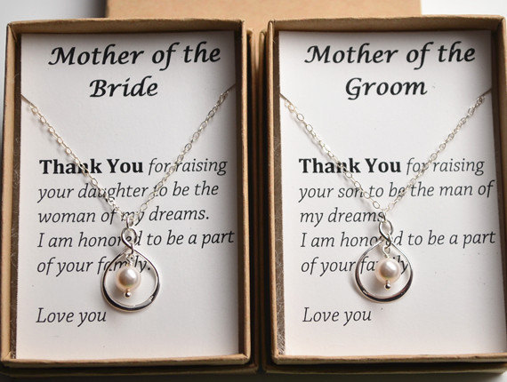Mother Of The Bride Gift Necklace Wedding Jewelry For Thank You Sterling Silver Infinity S Day