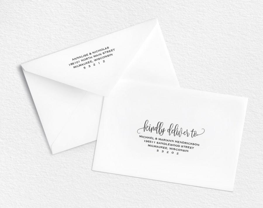 Envelope Template Printable Wedding Editable A7 Rsvp Pdf Instant