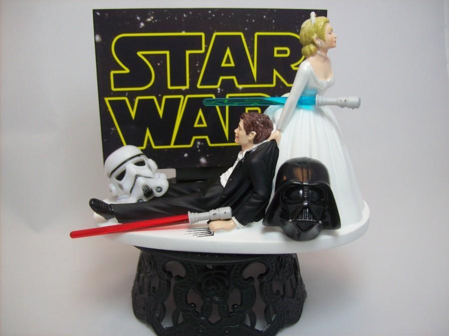bride and bridesmaid photo ideas - Star Wars Darth Vader Stormtrooper Bride And Groom Funny