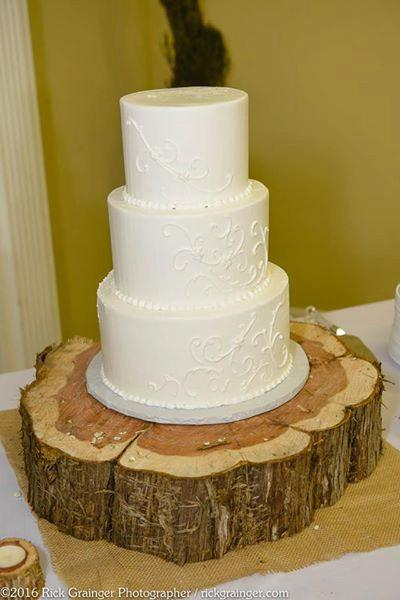 Rustic Wood Cake Stand Handmade Wedding Up To 20 Inches In Diameter Decor