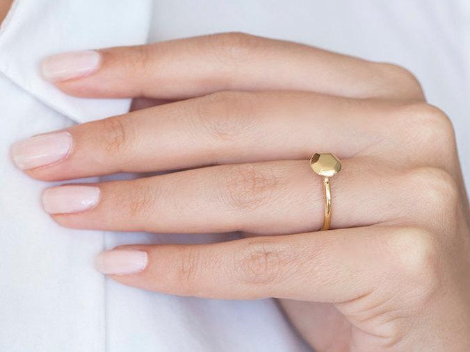 Gold Anniversary Rings For Her Ring 14k Geometric Jewelry Clic Diamond G