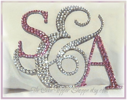 wedding cake topper monogram initials wedding cake topper cake topper personalized 8808