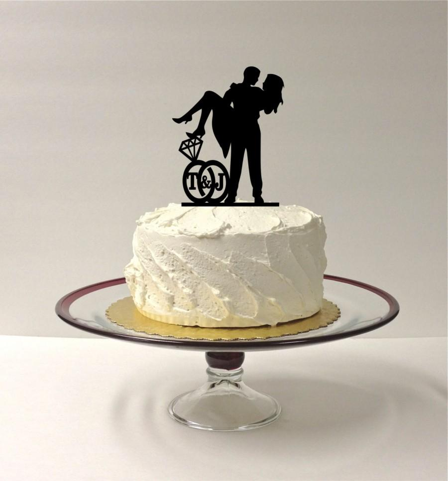 customizable wedding cake toppers personalized wedding cake topper with your initials 3258