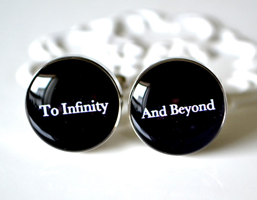 To Infinity And Beyond Cufflinks Wedding Day Keepsake Gift For Groom Husband