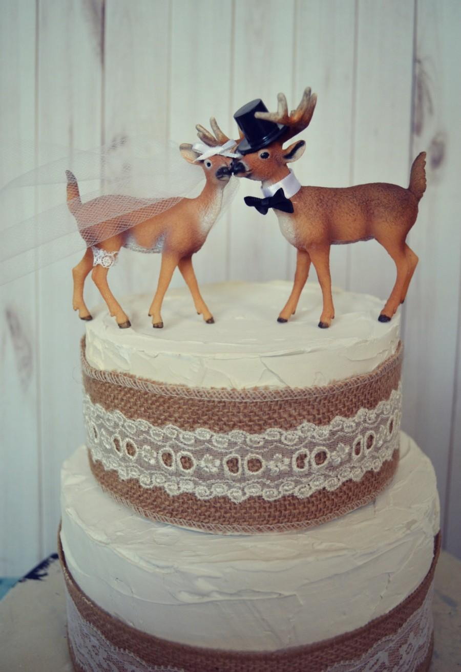 buck and doe wedding cake toppers buck and doe and groom deer wedding cake topper 12203
