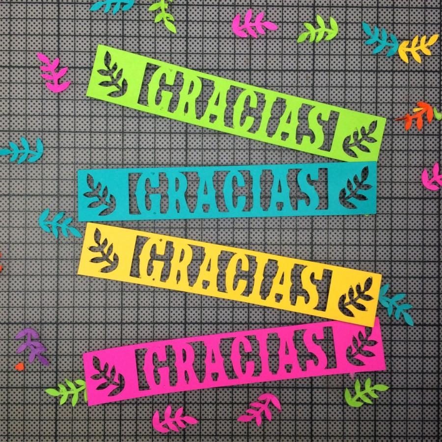 Gracias Thank You Mexican Wedding Fiesta Gift Tags Custom Favor Set Of 12