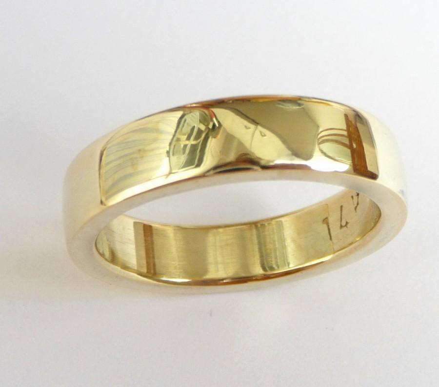 Mens Wedding Band Men s Gold Ring Men Wedding Ring Thick Massive