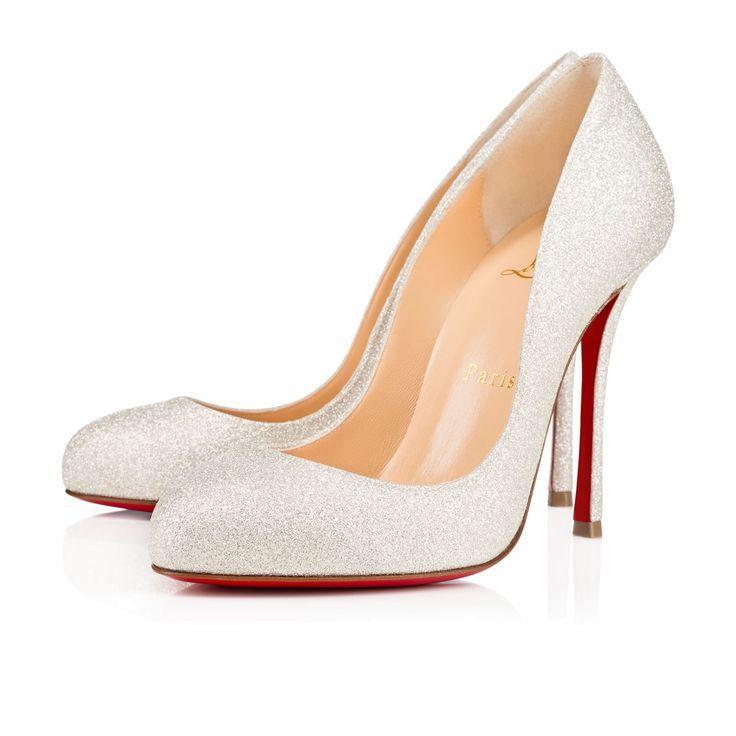 Merci Allen 100 Ivory Glitter Women Shoes Louboutin