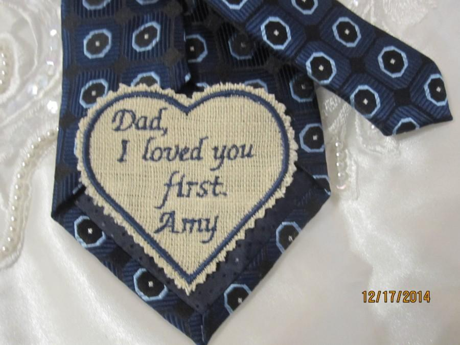Gift For Dad Groom Father Of The Bride Love Notes Special Wedding Tie Patch Machine Embroidery