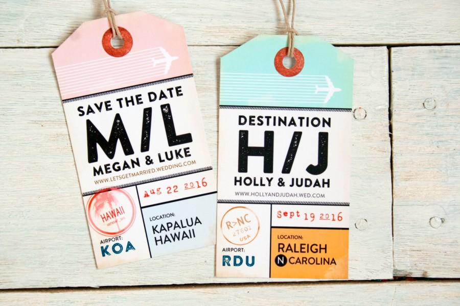 Attractive Save The Date Luggage Tag Invitation - Magnetic Luggage Tag With  YS71